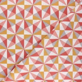 Tissu coton cretonne Pozia - corail x 10cm
