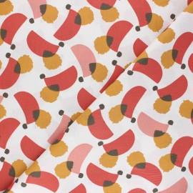 Tissu coton cretonne Moodzi - rouge x 10cm
