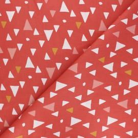 Tissu coton cretonne Momia - corail x 10cm