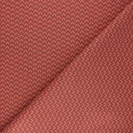 Cretonne cotton Fabric - terracotta Cil x 10cm