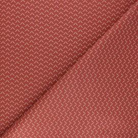 Tissu coton cretonne Cil - terracotta x 10cm