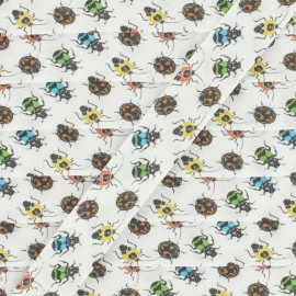 Biais Coton Insects 20 mm - Blanc x 1m