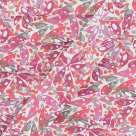 27 mm Cotton Bias Binding - pink Foliage x 1m