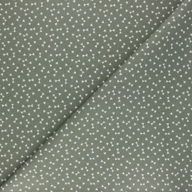 Cretonne cotton Fabric - khaki green Yozid x 10cm