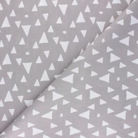 Tissu coton cretonne Skybow - gris x 10cm