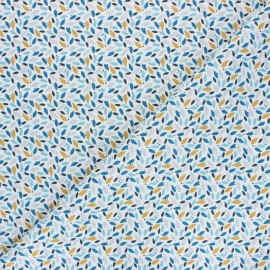 Tissu coton cretonne Soto - bleu x 10cm