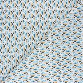 Tissu coton cretonne Payani - bleu x 10cm