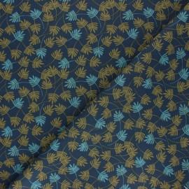 Tissu coton cretonne Goa - bleu marine x 10cm