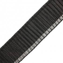 90 mm Pleated ribbon - black Jade x 50cm