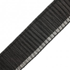 Ruban plissé Jade 90 mm - noir x 50cm