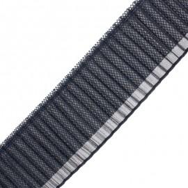 90 mm Pleated ribbon - navy blue Jade x 50cm