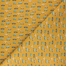 Cretonne cotton Fabric - mustard yellow Luigi x 10cm
