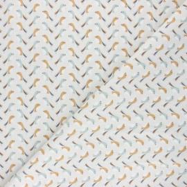 Cretonne cotton Fabric - raw Bipou x 10cm