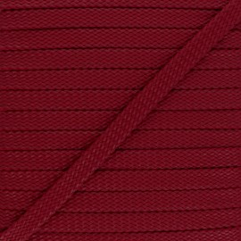 9 mm Odessa leather aspect Braided Cord - red x 1m