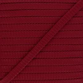 Cordon Tressé aspect cuir Odessa 9 mm - rouge x 1m