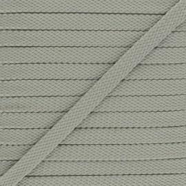 9 mm Odessa leather aspect Braided Cord - grey x 1m