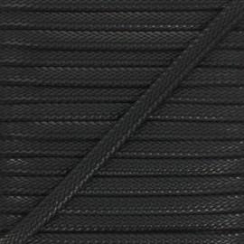 Cordon Tressé aspect cuir Odessa 9 mm - noir x 1m