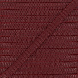 9 mm Odessa leather aspect Braided Cord - bordeaux x 1m