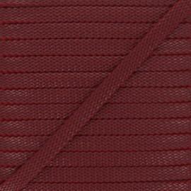 Cordon Tressé aspect cuir Odessa 9 mm - bordeaux x 1m
