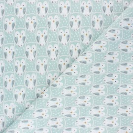 Tissu coton cretonne Choo - céladon x 10cm