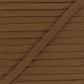9 mm Odessa leather aspect Braided Cord - brown x 1m