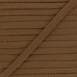 Cordon Tressé aspect cuir Odessa 9 mm - marron x 1m
