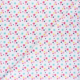 Tissu coton cretonne Luxina - blanc x 10cm