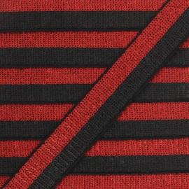 32 mm Sequin Braid Trimming - red/black Honey x 50cm