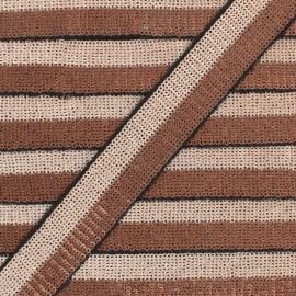 32 mm Sequin Braid Trimming - cooper/pink Honey x 50cm
