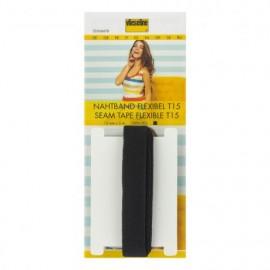 Support droit fil Vlieseline 15 mm - Noir