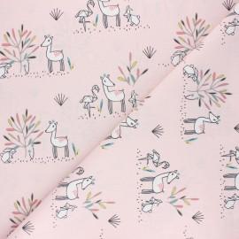 Tissu coton cretonne Effie - rose x 10cm