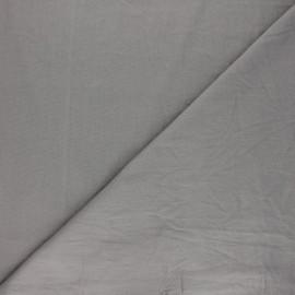 Washed cotton fabric - taupe grey Unico x 10cm