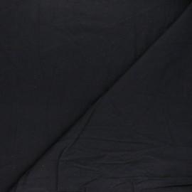 Washed cotton fabric - black Unico x 10cm