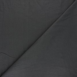 Washed cotton fabric - dark grey Unico x 10cm