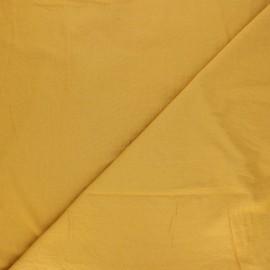 Tissu coton lavé Unico - moutarde x 10cm