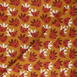 Cretonne cotton Fabric - ochre Rody x 10cm