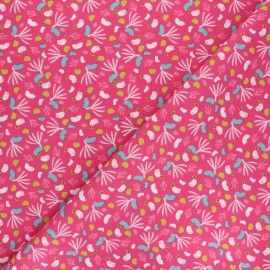 Cretonne cotton Fabric - fuchsia Lippy x 10cm