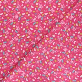 Tissu coton cretonne Lippy - fuchsia x 10cm