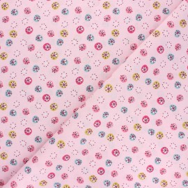 Cretonne cotton Fabric - pink Jarvi x 10cm