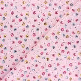 Tissu coton cretonne Jarvi - rose x 10cm