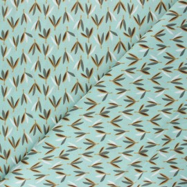Cretonne cotton Fabric - celadon green Joden x 10cm