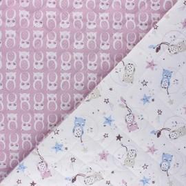 Tissu matelassé Réversible Lunazel/Chouni - blanc x 10cm