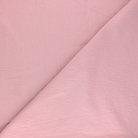 Tissu coton lavé Unico - rose x 10cm