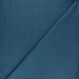 Tissu coton lavé Unico - bleu houle x 10cm
