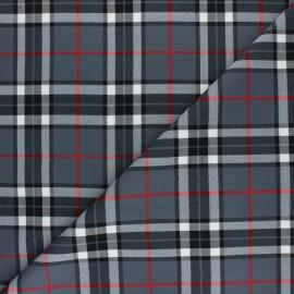 Polyviscose elastane fabric - grey Clapham x 10cm