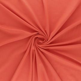 Tissu jersey Bambou Oeko-tex® - papaye x 10cm