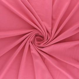 Tissu jersey Bambou Oeko-tex® - rose bonbon x 10cm