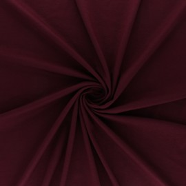 Tissu jersey Bambou - bordeaux x 10cm
