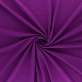 Tissu jersey Bambou - violet x 10cm
