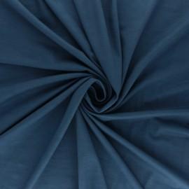 Tissu jersey Bambou - bleu houle x 10cm
